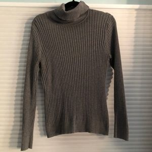 Croft and Barrow Grey Ribbed Turtleneck Sweater